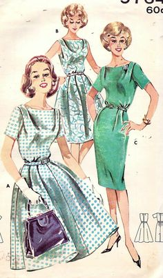 Vintage 60s Butterick 9764 Dress Sewing by vintagepatternstore, $16.90