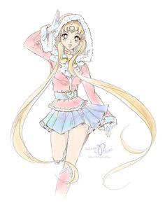 New Year Sailor Moon by Pillara on DeviantArt Sailor Jupiter, Sailor Moons, Sailor Chibi Moon, Sailor Moon Crystal, Sailor Venus, Arte Sailor Moon, Sailor Moon Fan Art, Sailor Neptune, Sailor Scouts