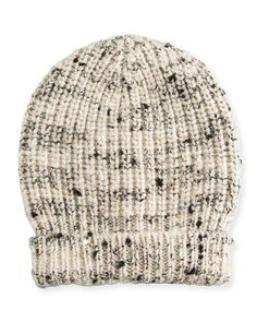 Brunello+Cucinelli+Ribbed+Cashmere+Blend+Sequined+Beanie+Hat+Seasalt+|+Headwear+and+Accessory