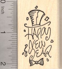 Happy New Year Rubber Stamp (G19812) $9 at RubberHedgehog.com