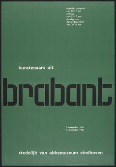 nice green Brabant, Stedelijk Van Abbemuseum, Eindhoven — Wim Crouwel (1957)