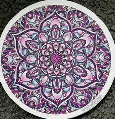 Blue pink Mandala coloring!