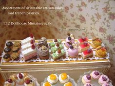 dollhouse miniature wood sign delicious pastries - Google Search