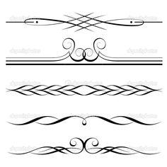 Elementos decorativos, frontera y normas — Ilustración de stock #9228337