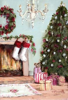 PRINT ON PAPER - Christmas Expectations - FREE  Shipping WORLD WIDE