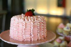Ruffle strawberry cake