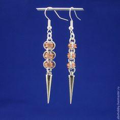 Купить Серьги ручной работы, кольчужное плетение - Бижутерия, украшения, ручная работа, серьги