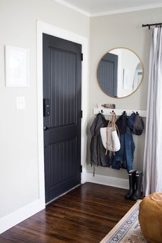 Do you have hooks in the front hallway for your guests' coats?   Solutions for a Small Entry or a Non-Existent Entry