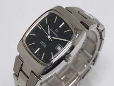 可動品【OMEGA/オメガ】コンステレーション 自動巻き スイス製 デイト 黒文字盤 スクエア メンズ腕時計 イ183の1番目の画像