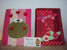 Capas de caderno em patchwork.