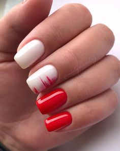 The most beautiful nail design (page Causes break nails? BREAKING NAILS Although breaking nails is necessary to protect the nails against the . Funky Nails, Red Nails, Cute Nails, Pretty Nails, Orange Nails, Pastel Nails, Bling Nails, Manicure Nail Designs, Manicure And Pedicure