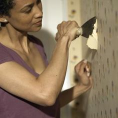 Why use chemicals when safe household products remove stubborn wallpaper?