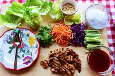 Pioneer Woman's Lettuce Wraps! Use GF soy sauce