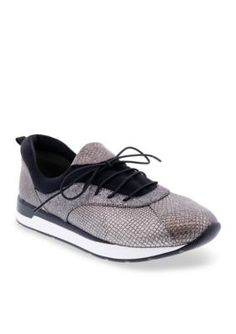 Bellini Women's Action Sneaker - Pewter Cracked - 7.5M