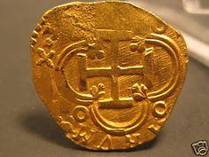 Moneda de oro procedente del Nuestra Señora de Atocha  2 Escudo ATOCHA Shipwreck GOLD Coin Mel Fisher Grade 1!