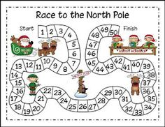 "FREE MATH LESSON - ""Christmas Math - Race to the North Pole"""