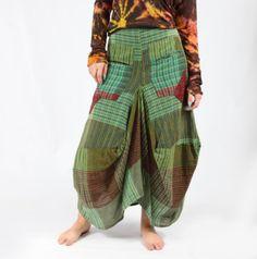 Patch Harem Balloon Skirt