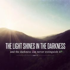 The darkness can never extinguish the light. Never. There is hope for you, dear and brave soul. #depression #recovery #light