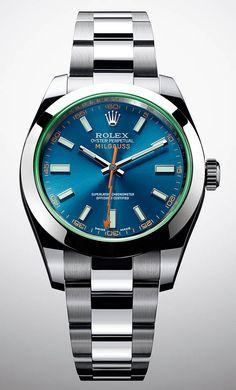 La Cote des Montres : La montre Rolex Oyster Perpetual Milgauss - Un nouveau cadran d'un intense bleu électrique