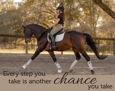 You and your horse take chances together every ride!