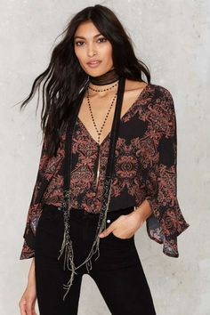 Plunge N' Roses Floral Blouse - Clothes | Shirts + Blouses