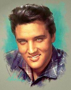 Painting of Elvis Presley