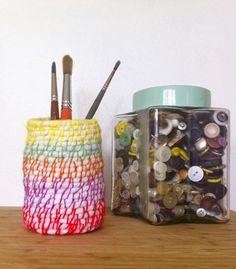 Coiled dryer sheet mini basket Textile Fiber Art, Dryer, Arts And Crafts, Basket, Mugs, Tableware, Dinnerware, Cups, Dryers