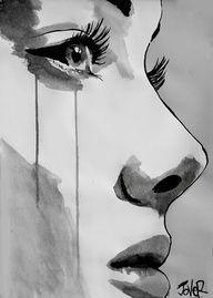 Visage Femme en larmes