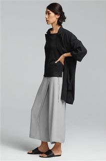 EILEEN FISHER Spring Icons Collection: Boxy Jacket + Silk Shell + Wrap Pant
