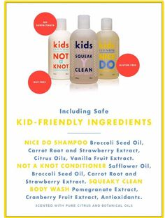Safe and delectable kids line from body wash to shampoo and conditioner!!! Let…