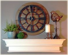 French Country Cream Faux Mantle Shelf Wall by DownrightCreative