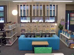 https://flic.kr/p/5hqRyR | Classroom Library | This is a shot of the library.  The white strips hanging from the window will have content area vocabulary posted on them (like a word wall).