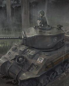 Such a classic. #gup #garupan #girlsundpanzer #senshadoschools #girls_und_panzer Anime Military, Military Girl, World Of Tanks, Girls Frontline, Tank Girl, Dieselpunk, Anime Style, Kawaii Anime, Warfare