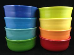 Fiesta Ware Chowder Bowls....my favorite bowl; perfect for cereal and soup!