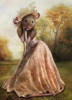 MI CORAZÓN Art Fantaisiste, Mouse Illustration, Art Mignon, Pet Mice, Arte Obscura, Cute Mouse, Animal Heads, Whimsical Art, Pet Clothes