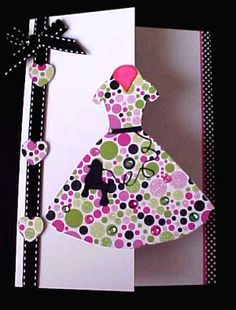 How freaking cute is this???!!!!    Free 60's Poodle dress silhouette card svg file.