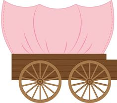 Pink covered wagon
