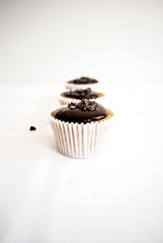 cacao nib muffins with espresso dark chocOlate glaze