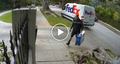 Como Um Trabalhador Da FedEx Entrega Um Monitor Em Casa Do Cliente