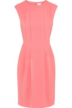 Coral crepe dress....lovely.... but I might need a different color!