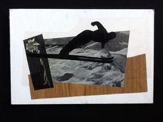 Ski jumping. Collage by Emanuela Ligabue, 2005.