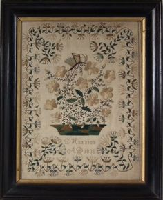 Antique Sampler, 1838, by D Harries | ID#21529 | Madelena