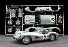 Aston Martin DBR1 - Life size model.  it actually comes in the style of an AirFix kit! going to be auctioned in the UK with a starting price of 46,000. #richmandecor #awesome