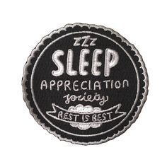 Sleep appreciation society patch