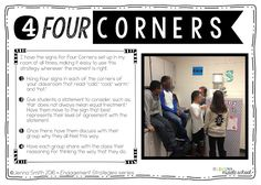 Musings from the Middle School: Strategy #4 - Four Corners (Engagement Strategies Series)