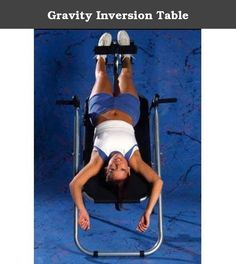 "Gravity Inversion Table. GT-MO Features: -Promotes spinal health. -Reverses effects of gravity. -Helps relieve pain. -Reduces stress. -Accommodates users up to 6'6''. -Steel tube: 1.5''. Product Type: -Inversion table. Finish: -Silver. Maximum User Height: -6.6 Feet. Maximum Weight Capacity: -300 Pounds. Dimensions: Overall Height - Top to Bottom: -61"". Overall Width - Side to Side: -36"". Overall Depth - Front to Back: -82"". Overall Product Weight: -55 lbs."