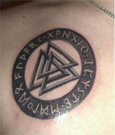 Valknut Norse Symbol Tattoo