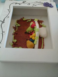 "cuadrito 3D de cocina tema ""surtido de frutitas"""