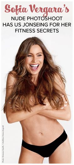 Sofia Vergara, the 45-year-old Modern Family star rocks her birthday suit on the cover of Women's Health. See what it takes to look this good! Popculture.com