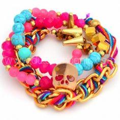 Pulsera Amor a la Mexicana   www.dulceencanto.com #accesorios #accessories #aretes #earrings #collares #necklaces #pulseras #bracelets #bolsos #bags #bisuteria #jewelry #medellin #colombia #moda #fashion